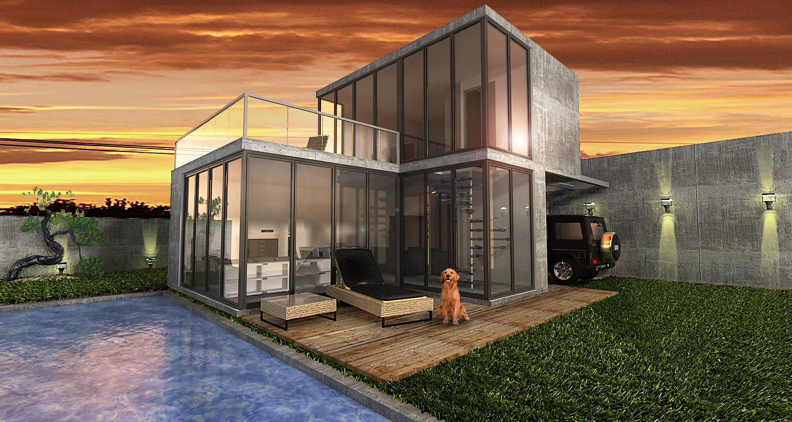 container-house-grass-displacement